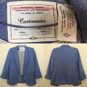 Cartonnier Open Front 3/4 Sleeve Blazer Jacket S